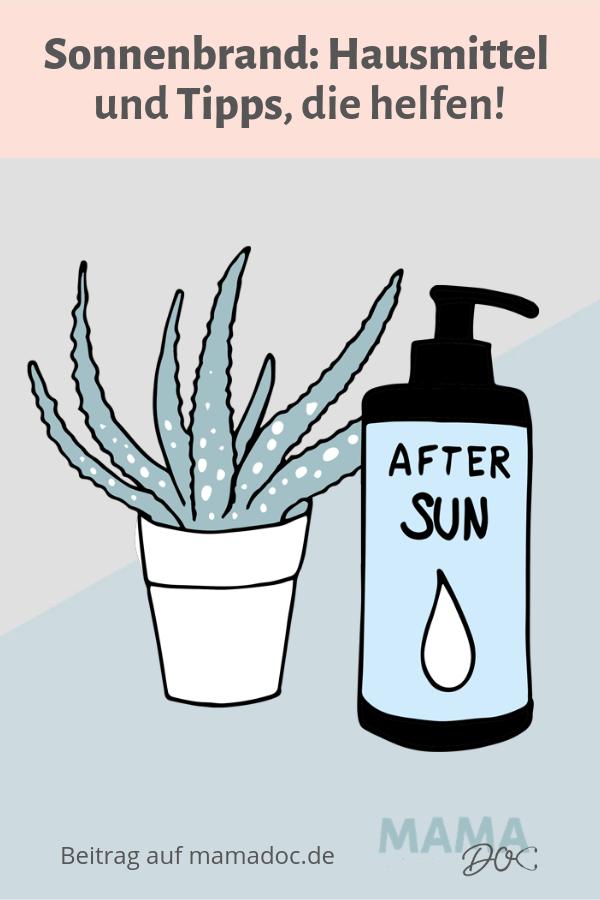 Tipps und Hausmittel bei Sonnenbrand
