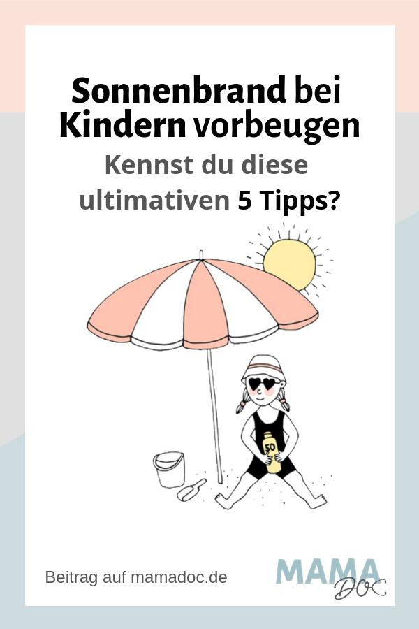 5 Tipps um Sonnenbrand vorzubeugen bei Kindern