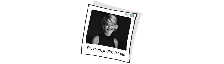 Mamadoc Interview-Partner Dr. med. Judith Bildau, Fachärztin für Frauenheilkunde und Geburtshilfe.  Sie ist Mama, Model, Influencerin und Frauenärztin