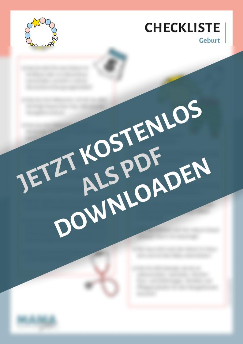Checkliste Geburt by Mamadoc
