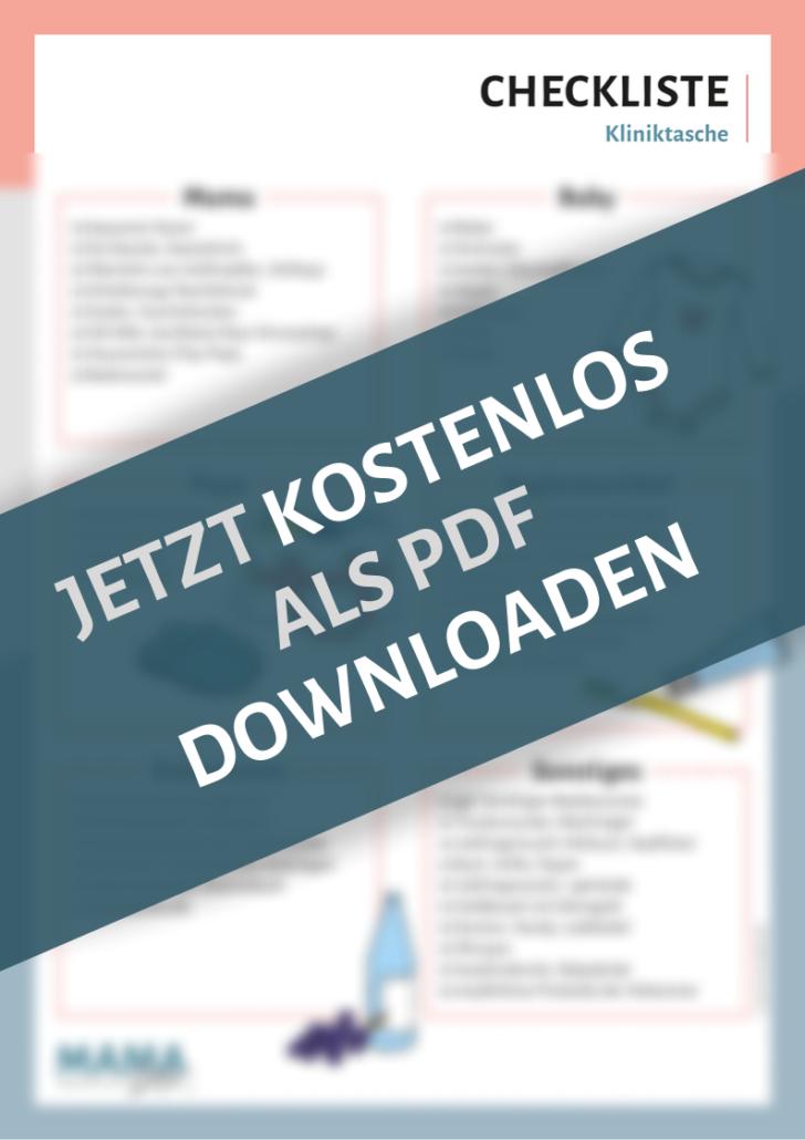 Checkliste Kliniktasche by Mamadco