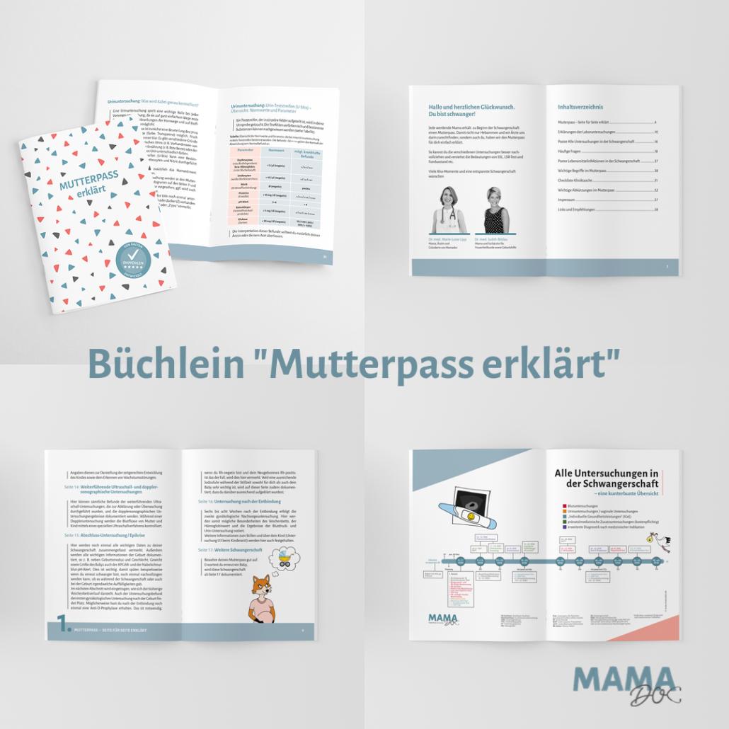 Büchlein Mutterpass erklärt passend für die Mutterpasshülle by Mamadoc