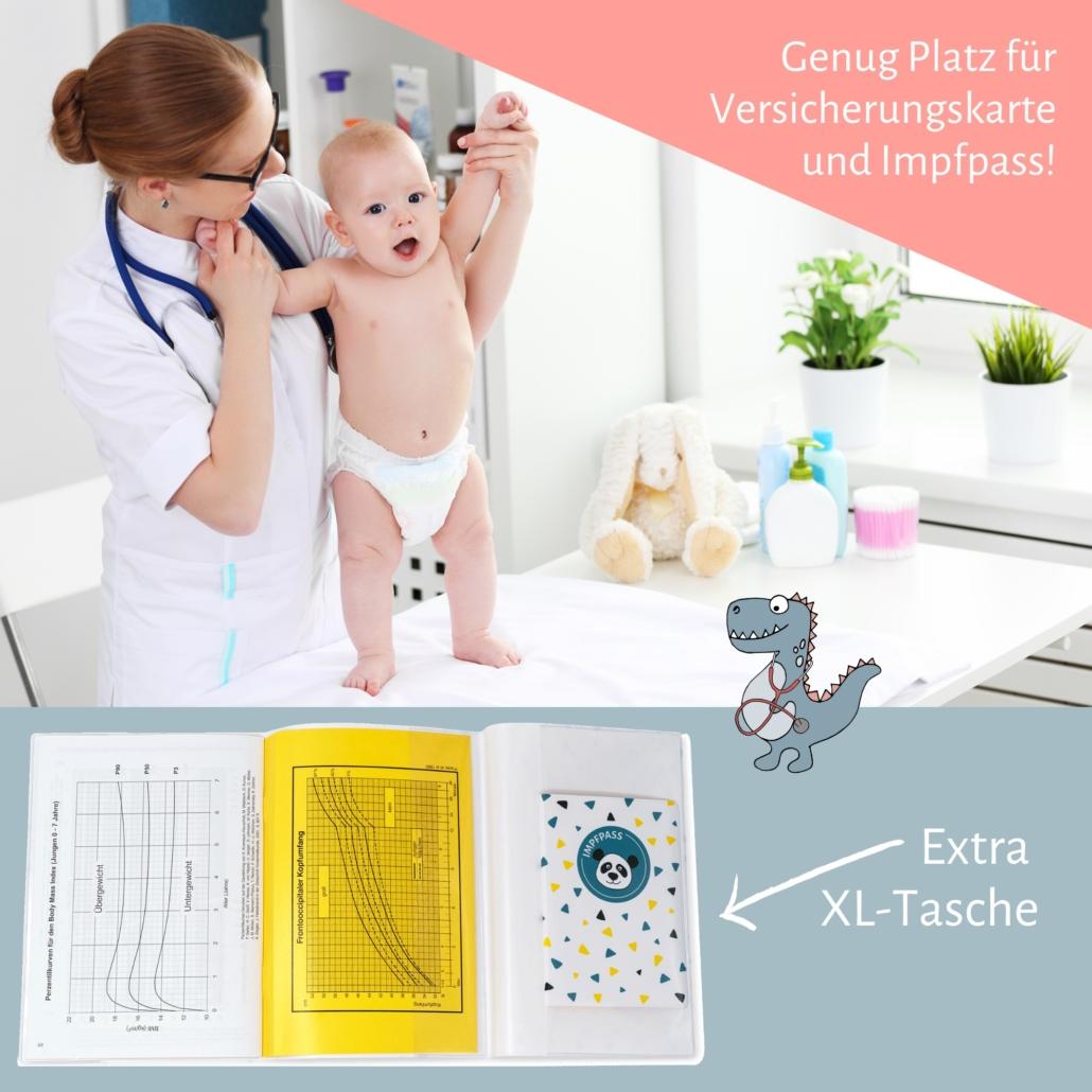 Hülle für Impfpass deines Kindes und das Untersuchungsheft by MamaDoc